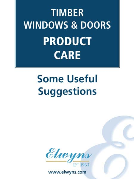 Timber Windows & Doors Product Care