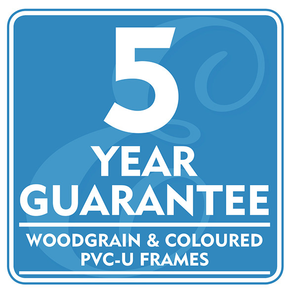 5 Year Guarantee - Woodgrain and Coloured PVC-U Frames