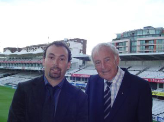 George Blanks, Founder Standing alongside his son Chris Blanks, at Lords