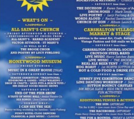 Carshalton-On-Sea Music Festival 19th, 20th & 21st June 2015