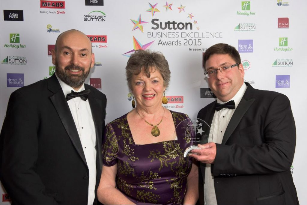 Elwyns Winner of Sutton Business Excellence Award 2015