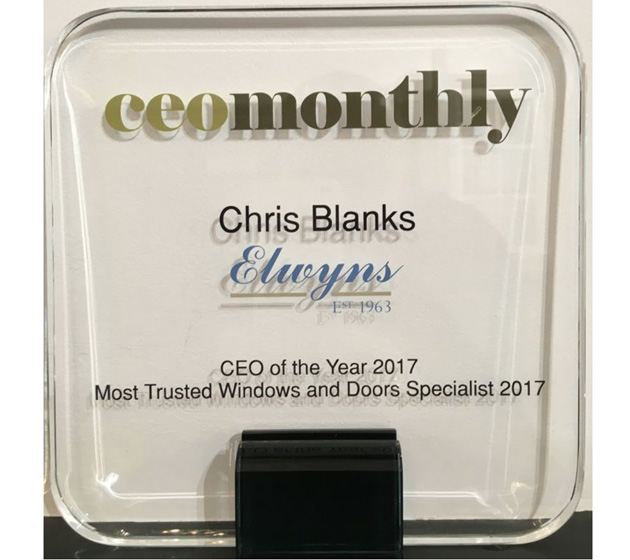 Chris Blanks Awarded CEO of the Year 2017
