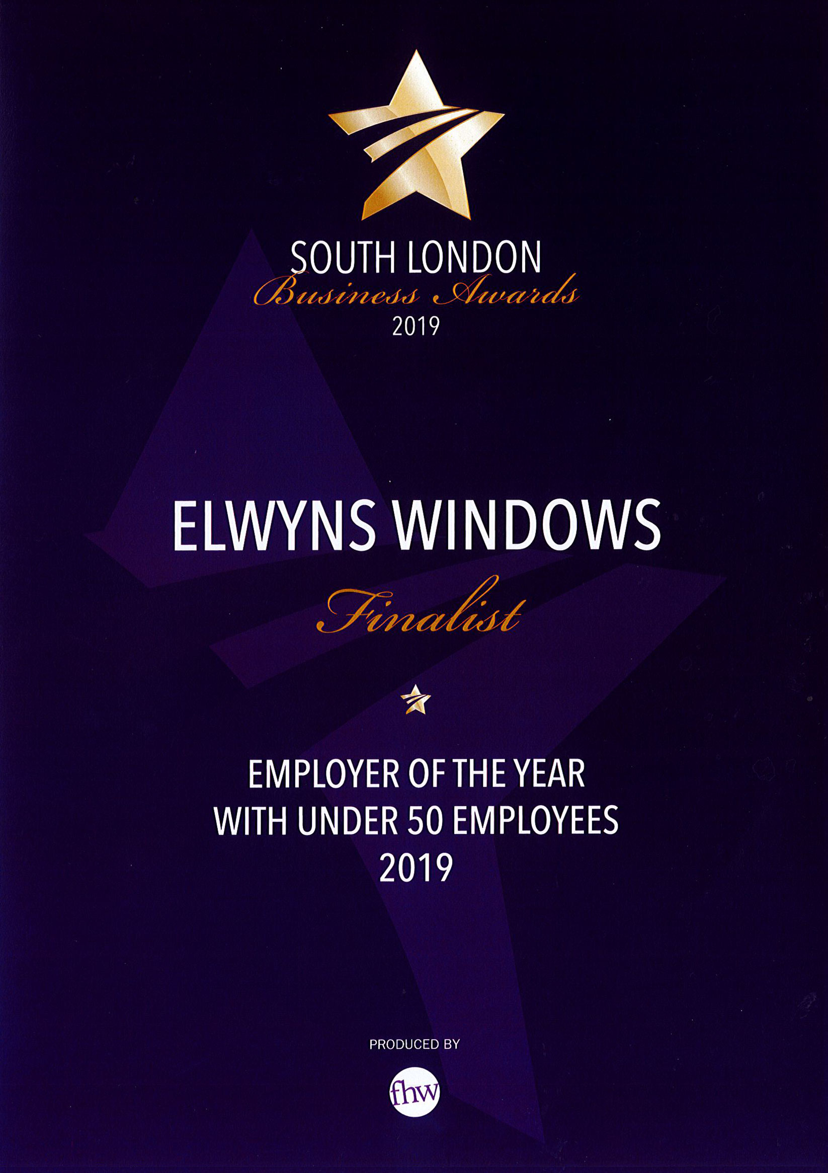 South London Business Awards 2019 - Employer of the Year with Under 50 Employees